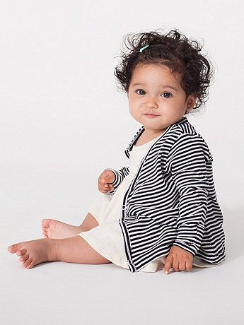 ** Infant Stripe Cardigan | American Apparel...navy