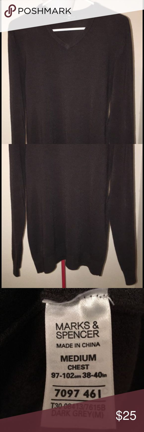 ❗️SALE❗️Marks & Spencer V-Neck Sweater Like new condition, Dark Grey Marks & Spencer Sweaters V-Neck