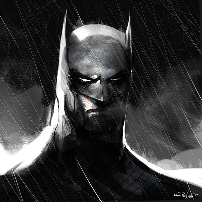 Pat Lee - Batman sketch