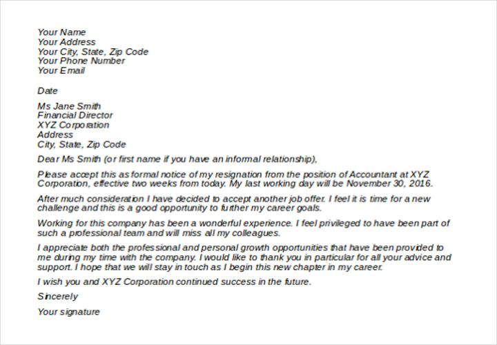 Letter Of Resignation Casual from i.pinimg.com