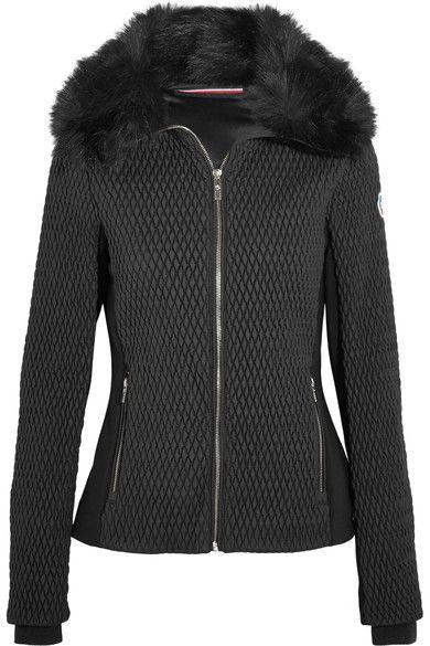 Fusalp - Montana Faux Fur-trimmed Quilted Ski Jacket - Black - FR42