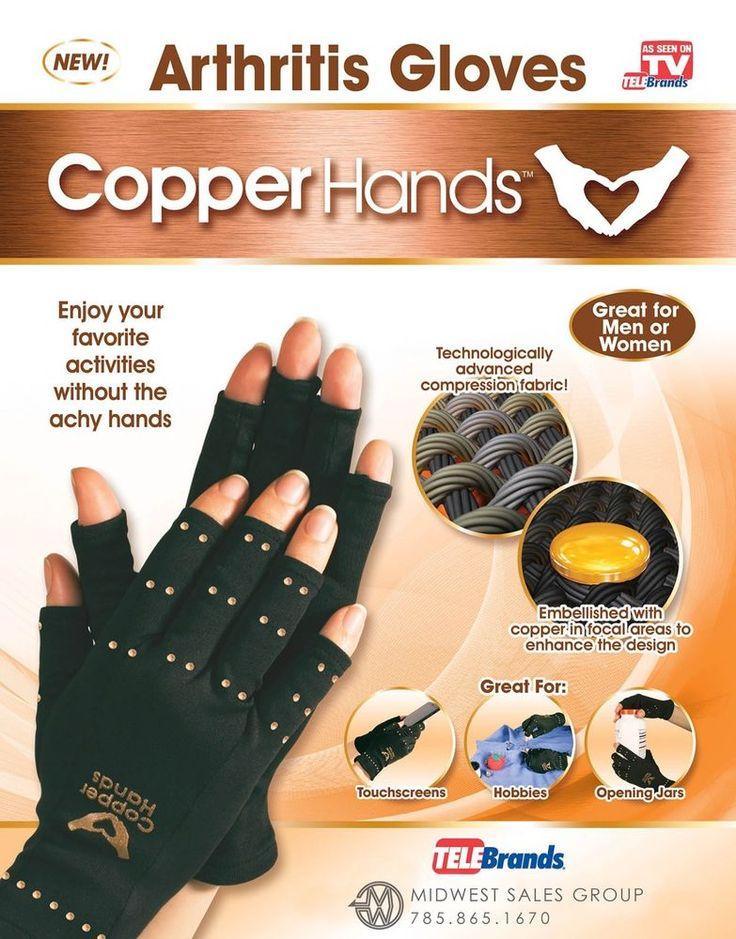 Copper Hands ArthritisTherapeutic Compression Gloves Size