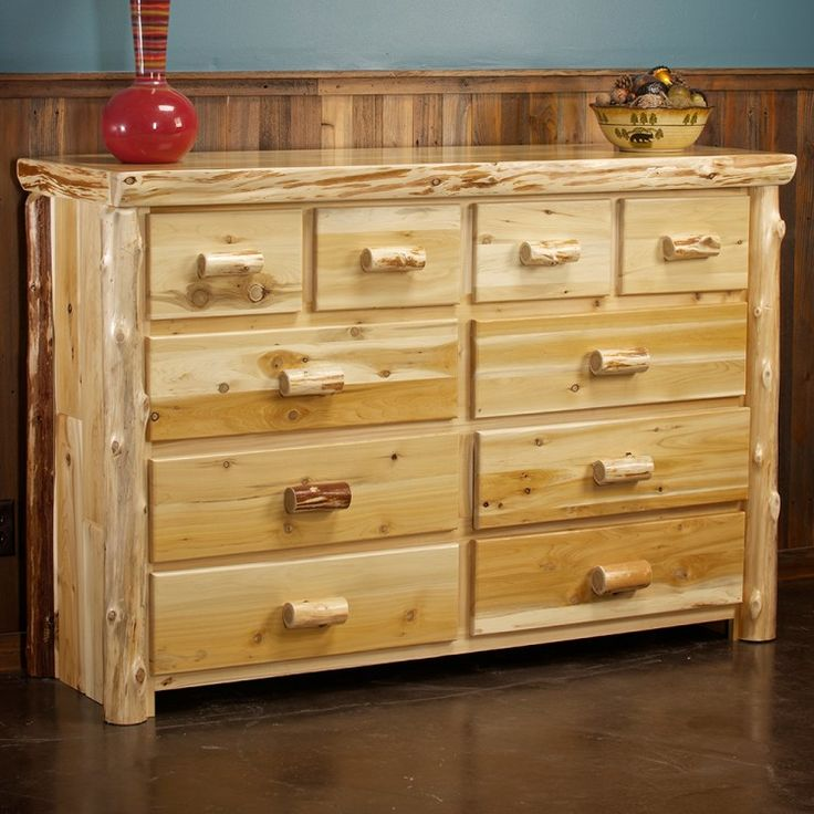15 best log dressers images on pinterest dresser for Log cabin furniture canada