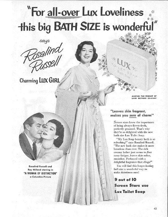 Magazine Ad for Lux Soap Featuring Rosalind by NoPlaceLikeVintage