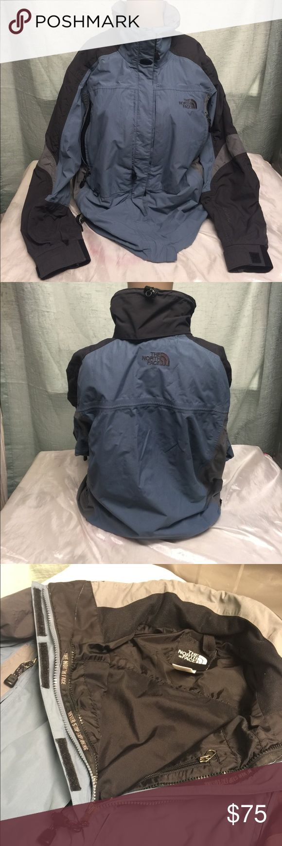 The North Face Jacket Hyvent waterproof breathable, Seam - sealed it acts as a barrier that will keep you going. In good condition it's missing the hoodie. Price will reflect that. The North Face Jackets & Coats