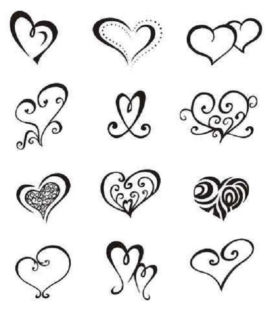 Easy Tattoo Patterns For Beginners Simple Heart Tattoos Small Heart Tattoos Heart Tattoo Designs
