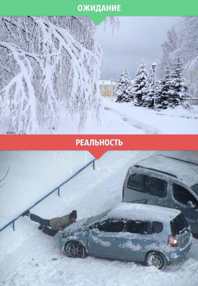 Зимние ожидания и реальность