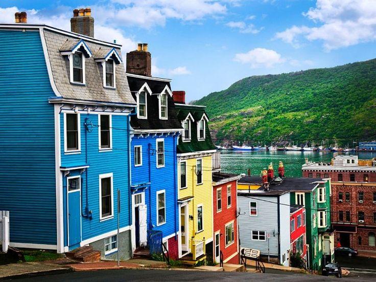 St. Johns, Newfoundland. Beautiful, colorful.