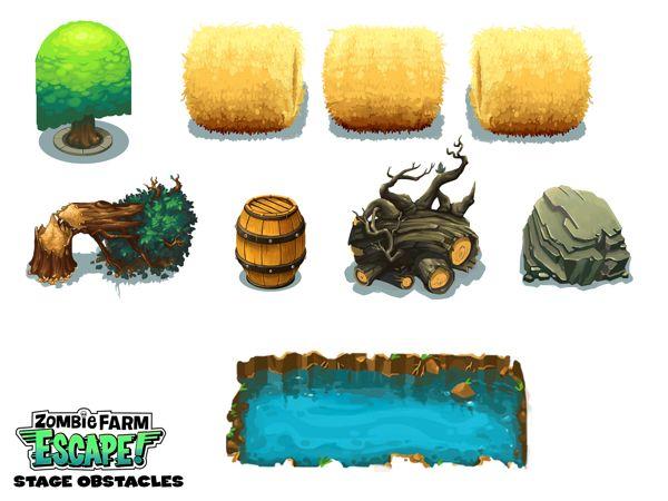 Zombie Farm Escape Concept Art by Ray Chan, via Behance