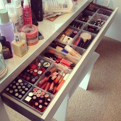 11 formas criativas de organizar sua maquiagem                                                                                                                                                                                 Mais