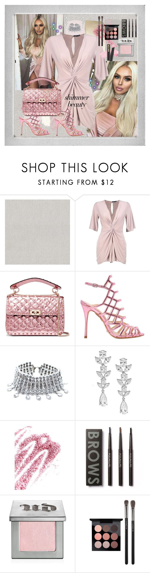 """Princess Pink Barbie"" by dobesht ❤ liked on Polyvore featuring beauty, Brewster Home Fashions, Boohoo, Valentino, Schutz, Child Of Wild, Saks Fifth Avenue, Obsessive Compulsive Cosmetics, Urban Decay and MAC Cosmetics"
