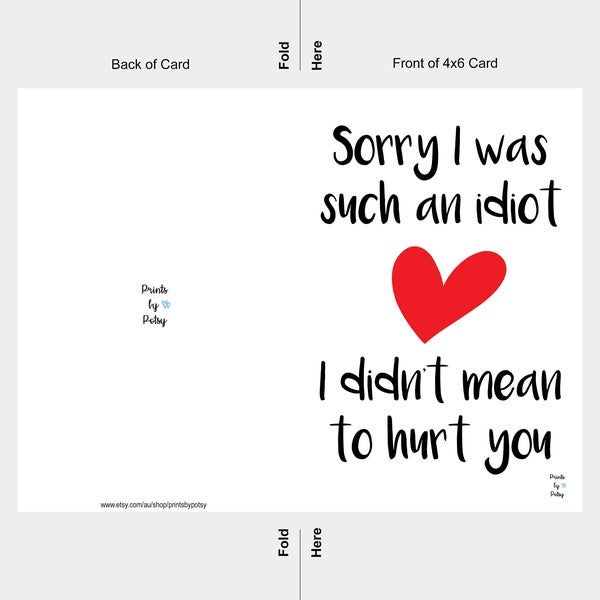 Cute Hand Drawn Cat With Hearts Apologize Card I M Sorry With Sorry Card Template 10 Professional Templates How To Apologize Apologizing Quotes Sorry Cards