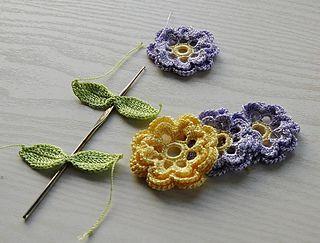 free pattern irish crochet flower
