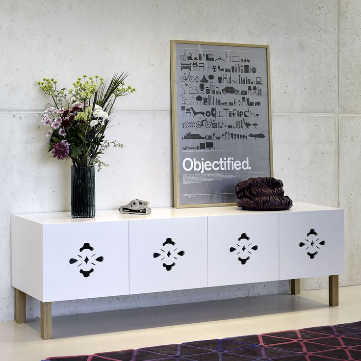 Enfilade portes découpées Blanc SCATOLA ARMONICA chez Tema Home style #scandinave