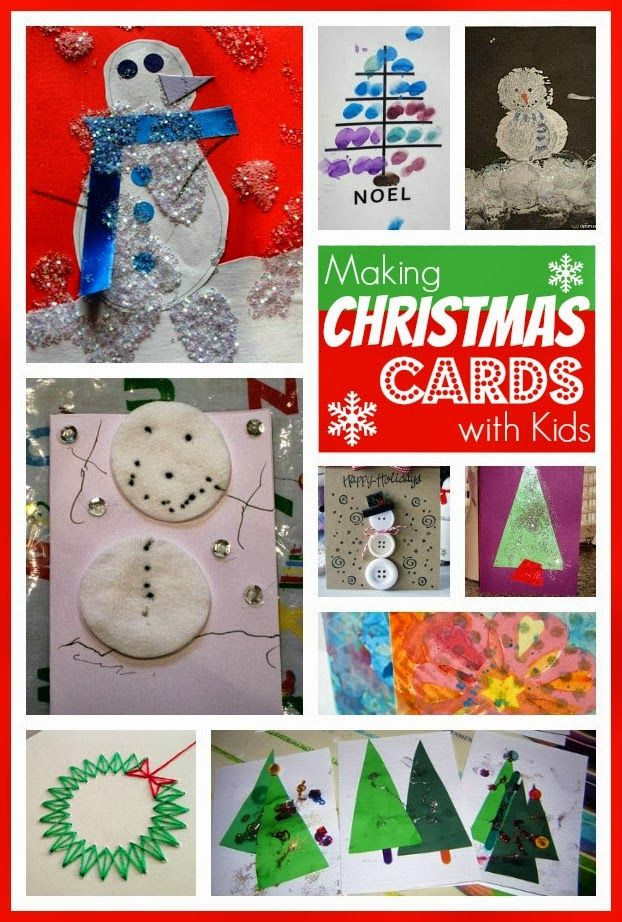 Loads of tips and ideas for making fun and thrifty Christmas cards with kids @Maaike Boven make lists ... #advent