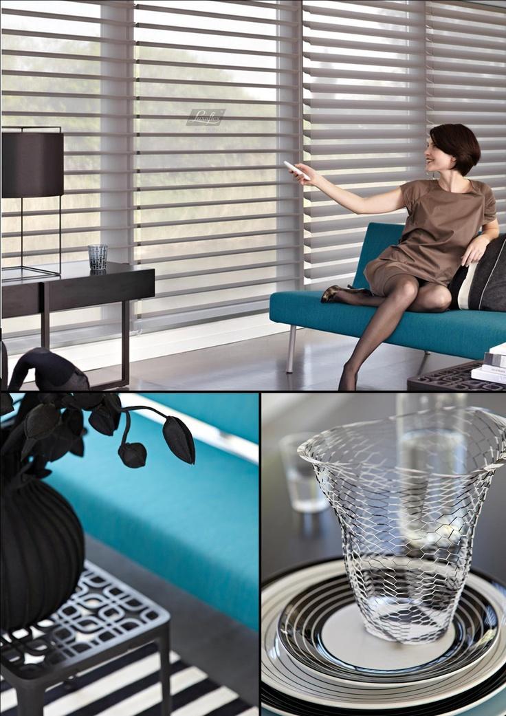 Design. Silhouette® Shades stralen een luxe, rijk gevoel uit. Wanneer je voor een donkere kleur kiest, wordt die ervaring nog eens extra versterkt.