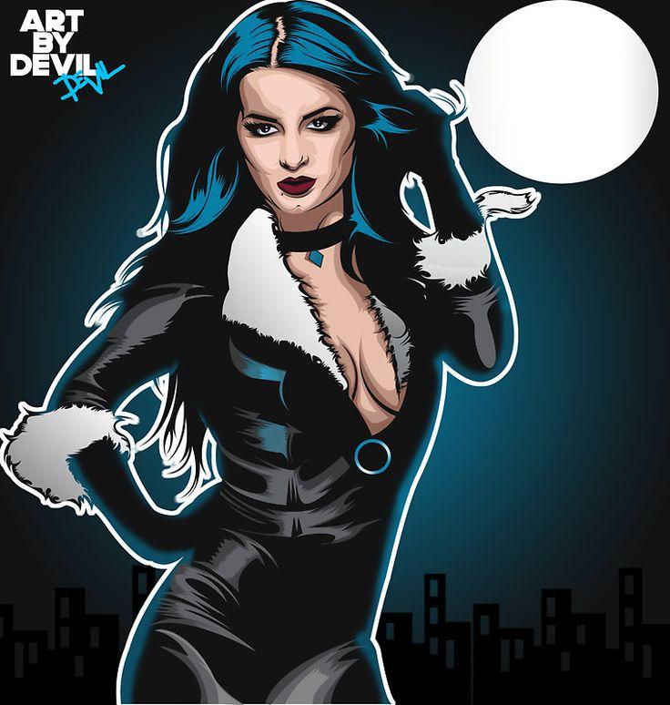WWE Paige as BlackCat (Art Print) by devilstore