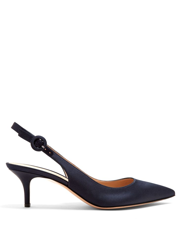 Escarpins ouverts en satin à petit talon Anna | Gianvito Rossi | MATCHESFASHION.COM FR