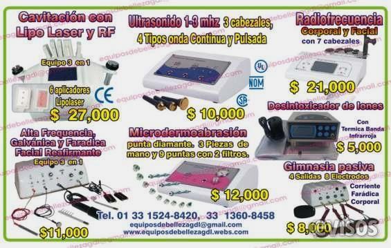 Venta equipos para spa corporales y faciales  Venta equipos para spa corporales y faciales en Guadalajara Descripción Le manejamos las mejores ...  http://guadalajara-city-2.evisos.com.mx/venta-equipos-para-spa-corporales-y-faciales-1-id-590108