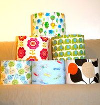 Drum Fabric Lampshades in all sizes and Fabrics