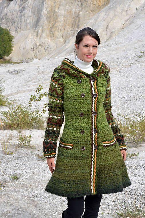 Kabátik Miss Green   Artika - SAShE.sk - Handmade Kabáty  ff4377b6289