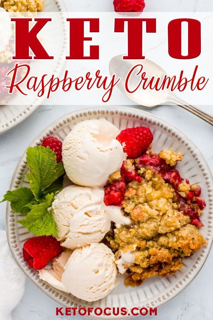 Jun 28, 2020 – Keto Raspberry Crumble Recipe! This is an easy low carb dessert recipe you can make with any berries you…