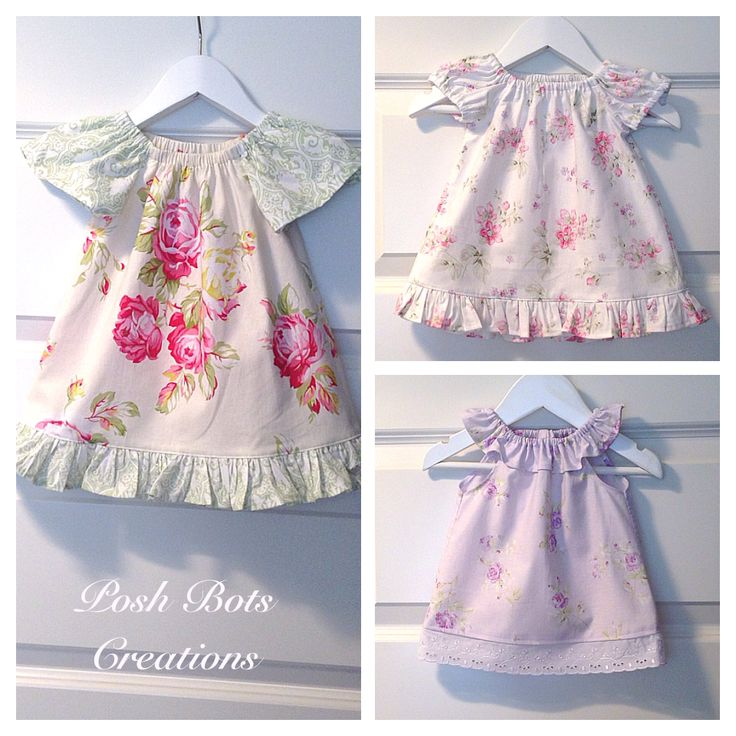 Seaside dresses & tops, so sweet for little girls of all ages. Lovely in the warmer weather as is & just as gorgeous layered with a long sleeve tee. #handmade #babyclothes #girlsclothes
