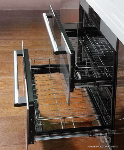 modern dish racks by ITB Kitchen & Wardrobe Manufacturer.  needs a drip pan and it would work