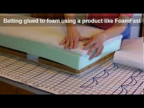 Here's a quick video on upholstering (or reupholstering) a bench.The full article, which includes more information about the project, plus some tips and instructions for creating your own pattern, can be found here:  Part 1: http://cyberseams.com/article/105730/around_the_house/how_to_upholster_a_bench.html  Part 2: http://cyberseams.com/article...