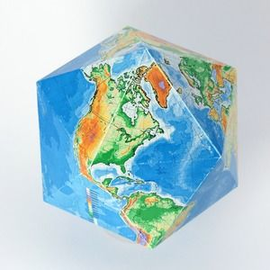 Gnomonic projection on an icosahedron
