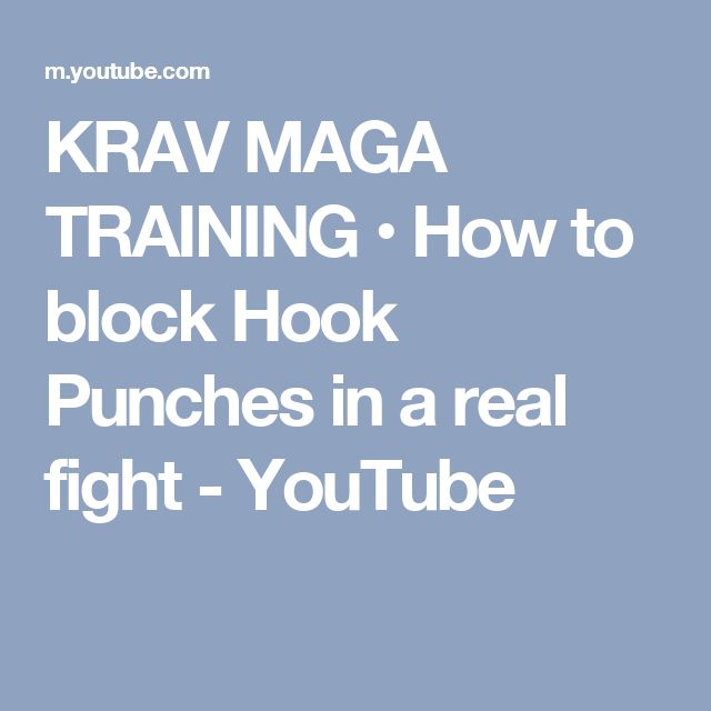 KRAV MAGA TRAINING • How to block Hook Punches in a real fight - YouTube