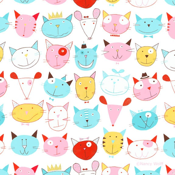 Nancy Wolff - not sure if this is fabric or wallpaper - whatever it is, it's too cute for words. :)