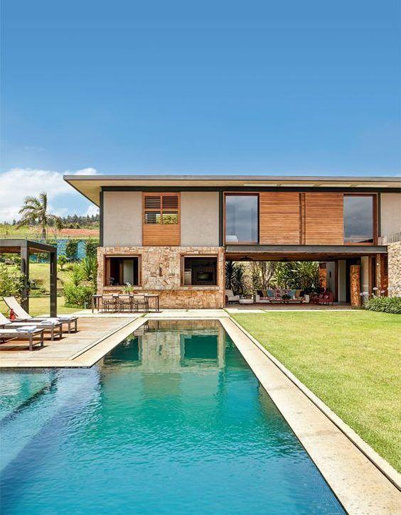 nice Casa de Campo: 95+ Modelos, Projetos e Fotos Incríveis! Check more at http://igreti.net/casa-de-campo-95-modelos-projetos-e-fotos-incriveis/