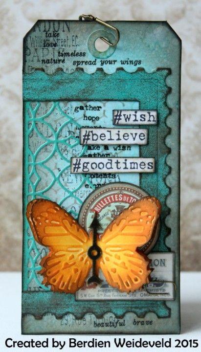 Mixed media tag by Berdien Weideveld via Marjie Kemper's Tuesday's Texture Blog Series, Week 39
