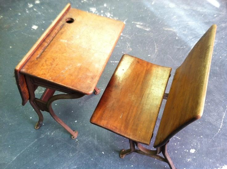 Vintage Antique Children S School Desk Chair Cast Iron