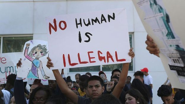 "No Human is Illegal.#IamAmigrant The mayors of so-called ""sanctuary cities"" are pledging to continue their policies of granting legal protections to undocumented immigrants in case federal authorities under the Trump administration want to deport them. San Francisco issues ID cards to undocumented #immigrants, allowing them access to local government services. Some cities ban police from asking about immigration status so as not to deter people from reporting crimes."