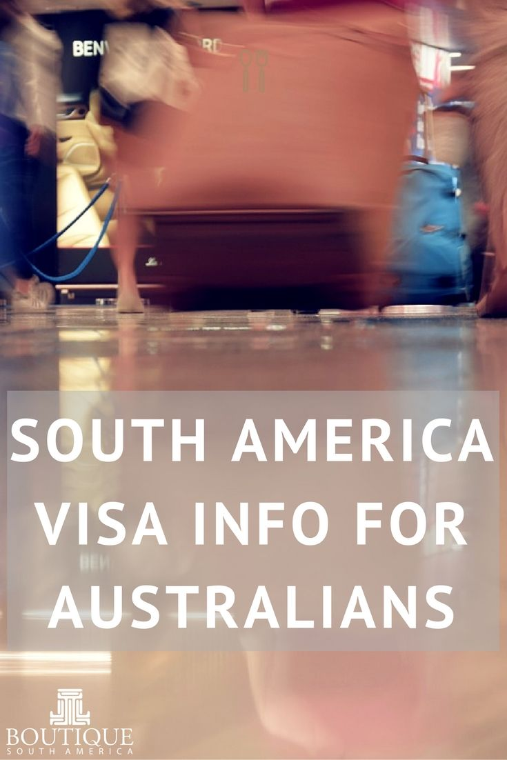 Information for Australian travellers on visa and reciprocity fees for Argentina, Chile, Colombia, Brazil, Bolivia, Ecuador & Peru.