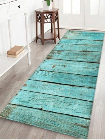 Wooden Print Water Absorption Rug – W24 Inch * L71 Inch