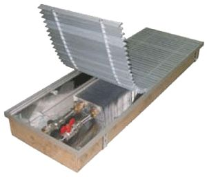 Внутрипольные конвекторы отопления EVA Артикул: нет Внутрипольный конвектор EVA COIL - KTT80 с естественной конвекцией, без вентилятора, решетка анодированная (серебристая). Гарантия производителя.