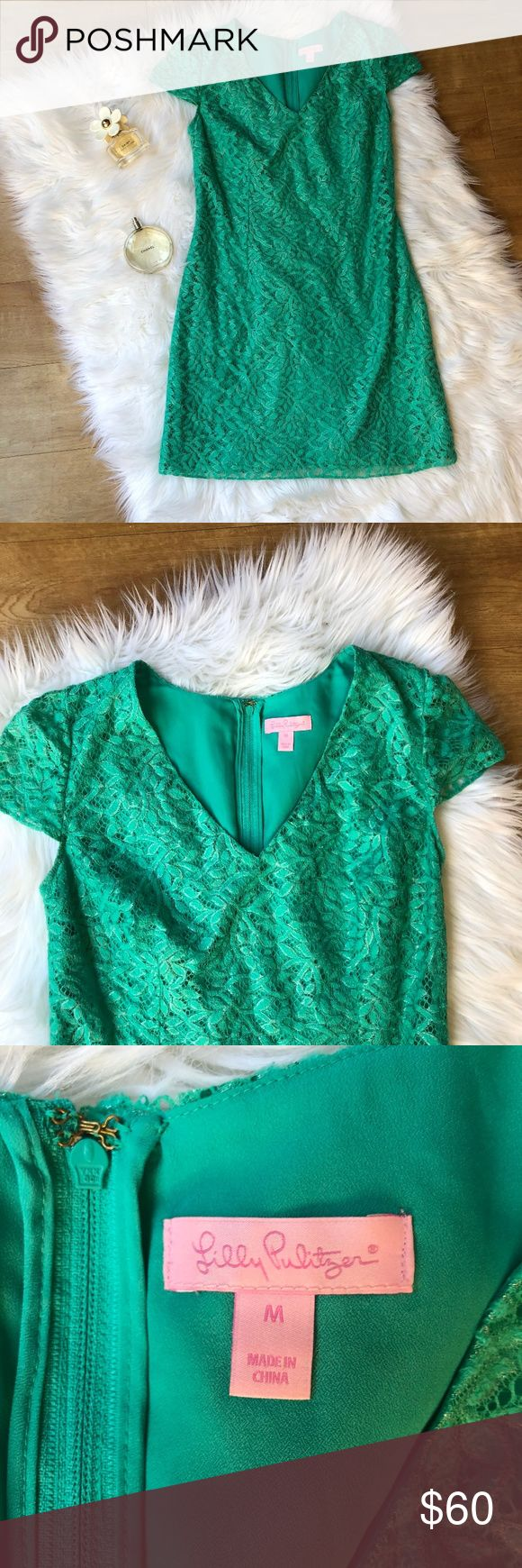 Lilly Pulitzer Teal Metallic Work Dress This Lilly Pulitzer Dress is a size medium and in good condition. It's great for the office or a transition to a cocktail hour. Thank you for looking and feel free to send me an offer or shoot me this in a bundle. Lilly Pulitzer Dresses Mini