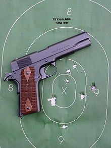 M1911 pistol - Wikipedia, the free encyclopedia                                                                                                                                                                                 More
