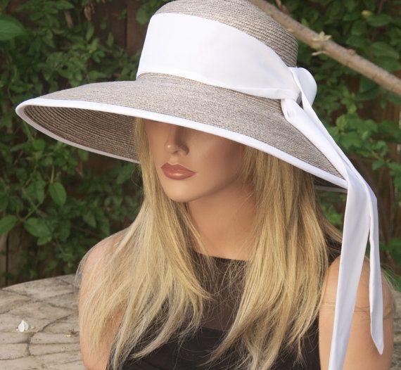 Wide Brim Hat Audrey Hepburn Hat Wedding hat Women's  $140
