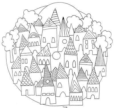25 best ideas about mandalas para colorear ni os on for Casitas para ninos