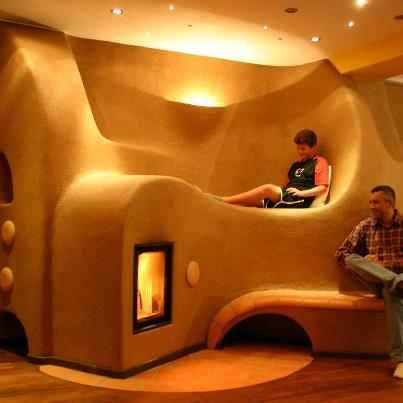 Not necessarily the fire but bunk seats would be awesome in a living room!