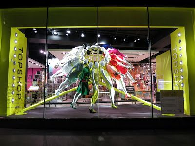 Top Shop, Oxford Circus, London - colour wheel installation in conjunction with the RIBA and Neon Architecture