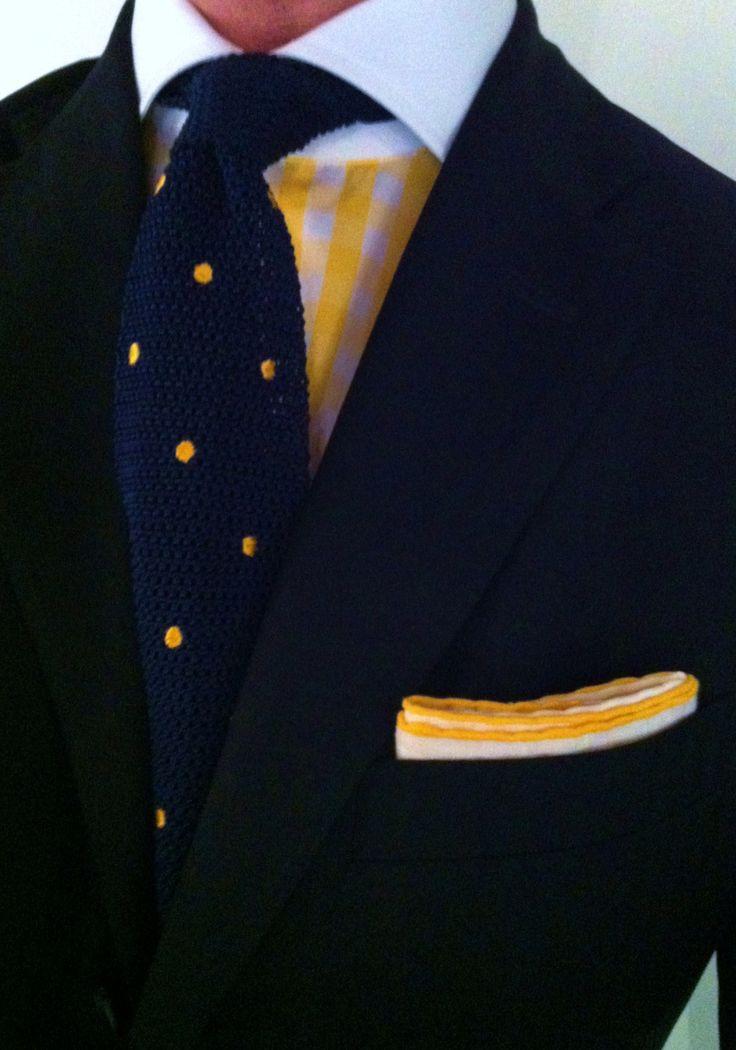 Yellow gingham shirt