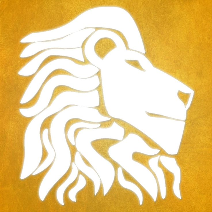 White Drawn Lion Logo by ThatBizarreChild