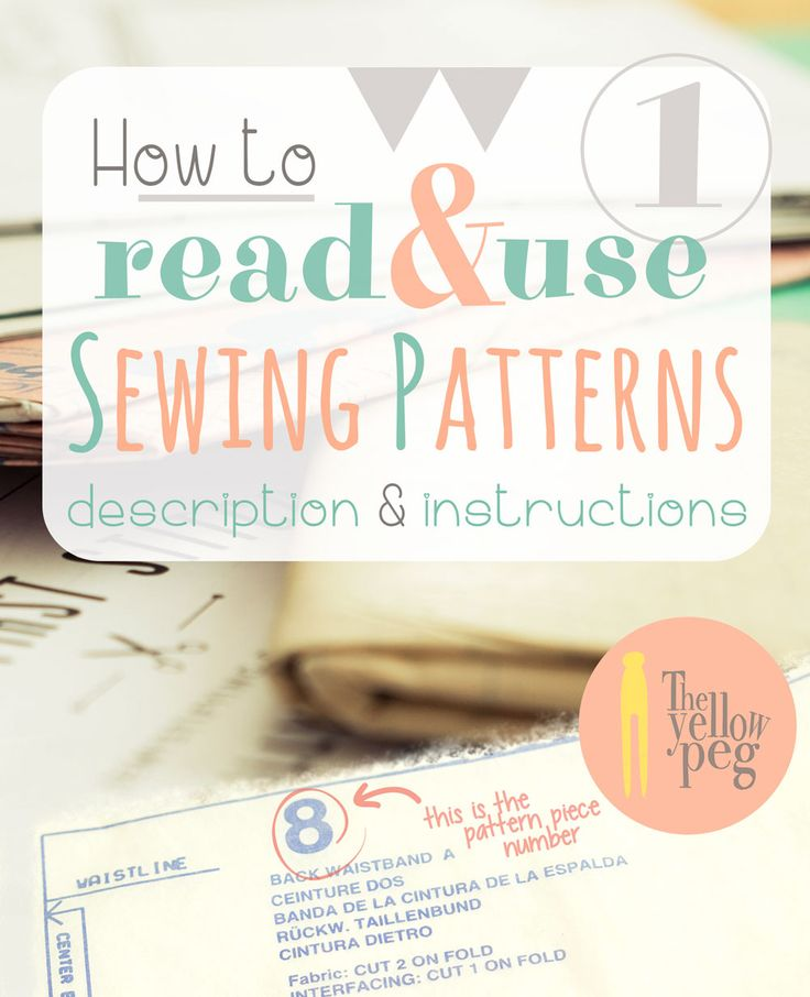 How to read and use sewing patterns - Part 1