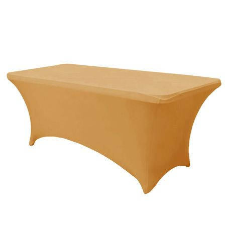 6' Gold Stretch Fitted Tablecloth by smartyhadaparty.com!