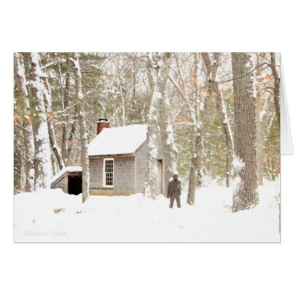 Our Hearts are Warm and Cheery: Walden Pond Card - christmas cards merry xmas diy cyo greetings